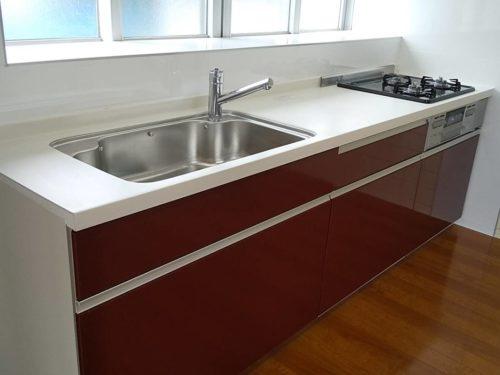 新川戸建て内装 使いやすいキッチン(キッチン)