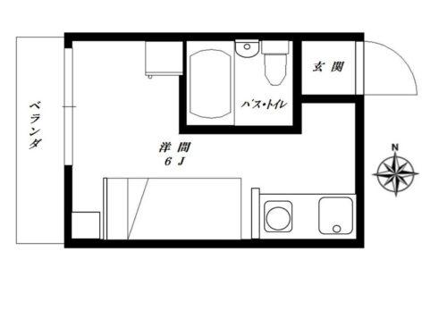 スカイマンション金城206間取り(間取)